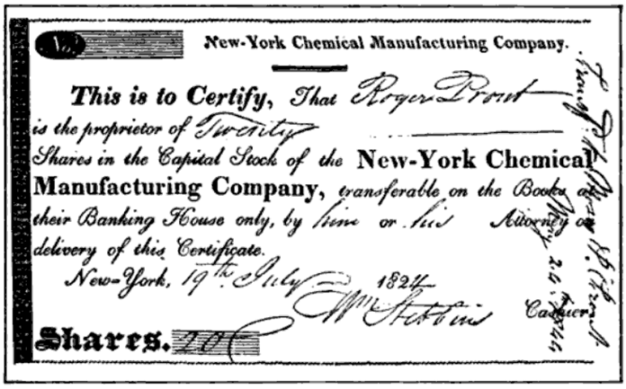 FileCertificate of of Chemical Mfg Company 1824png – Company Share Certificates