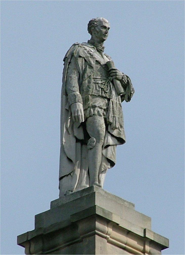 Charles Grey - 2nd Earl Grey - atop the Grey Momument - Newcastle upon Tyne - England - 140804.jpg