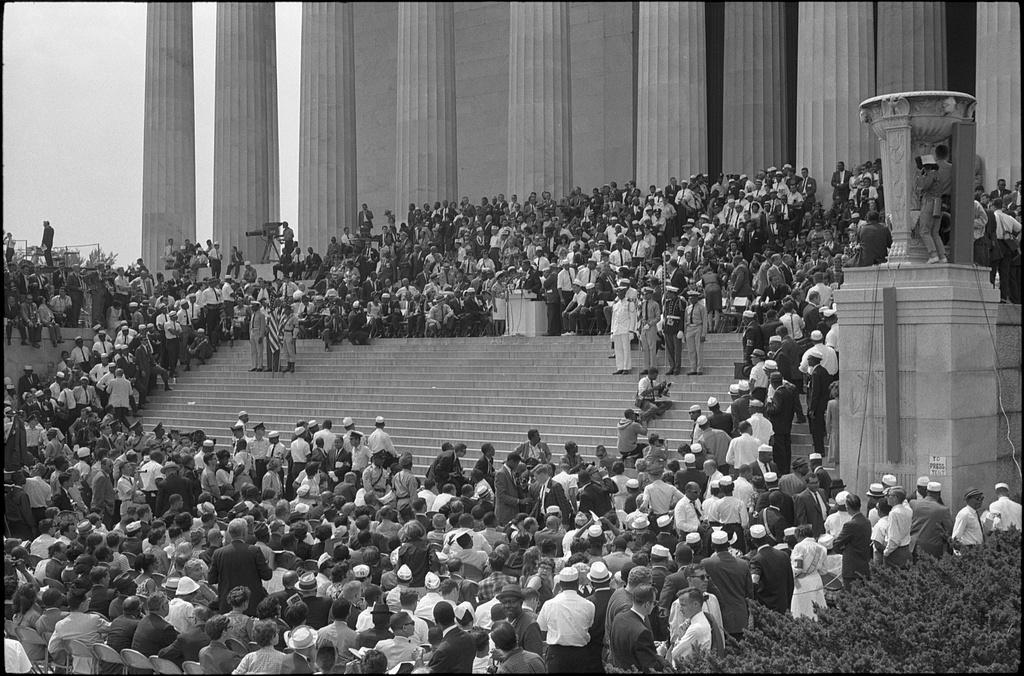 Civil Rights And States Rights >> File:Civil rights march on Washington, D.C. Steps.jpg - Wikimedia Commons