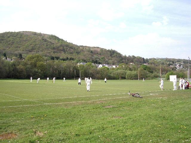 Cricket on Pontardawe Recreation Ground - geograph.org.uk - 45081