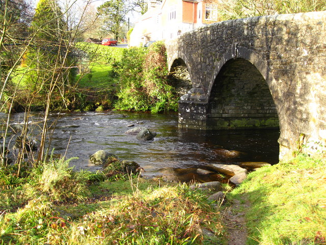 Dartmeet -road bridge and river - geograph.org.uk - 643491