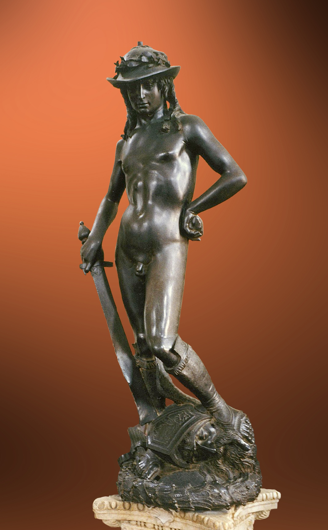 an evaluation of the bronze sculpture of david by donatello Ghiberti was well known for his international gothic style of bronze sculpture and excelled at helped pave the way for donatello's bronze david with the.