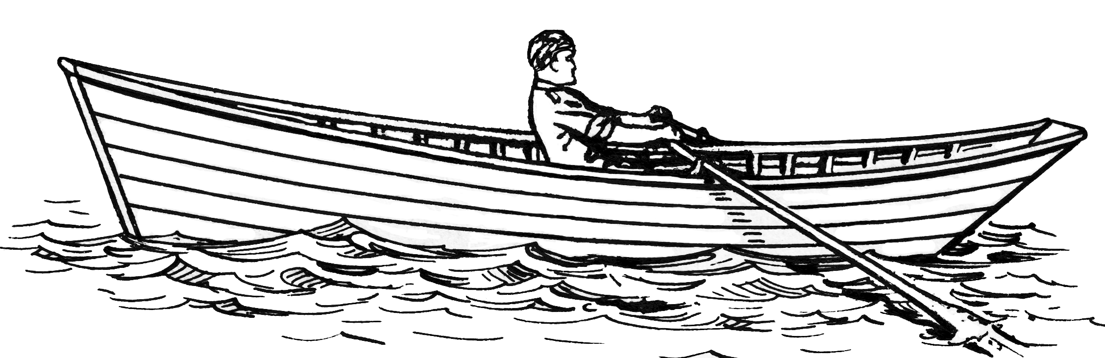 Line Drawing Boat : Dinghy or dory db