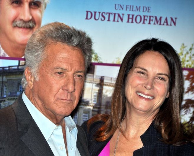 Dustin Hoffman with clever, Wife Lisa Hoffman