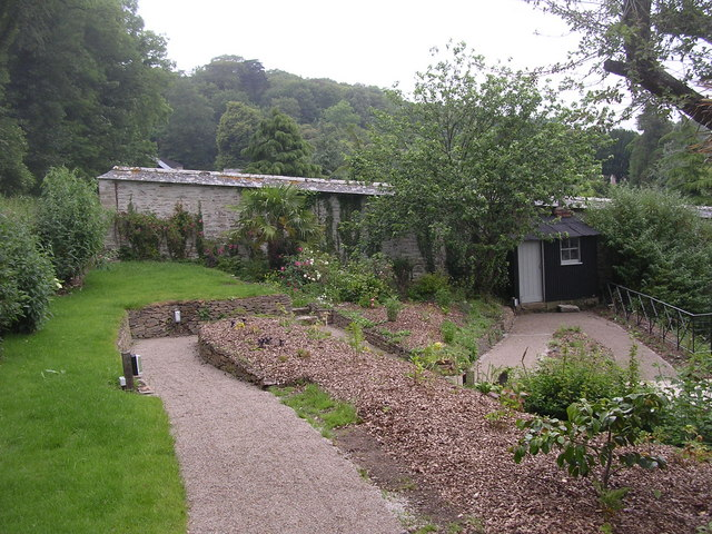 External view of the walled garden at Penrose - geograph.org.uk - 811507