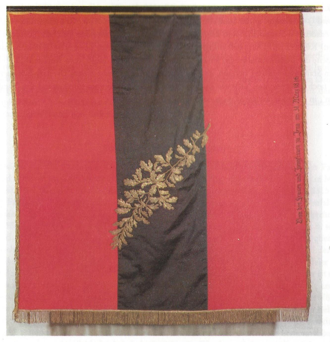 Replikat der Fahne der Urburschenschaft von 1816