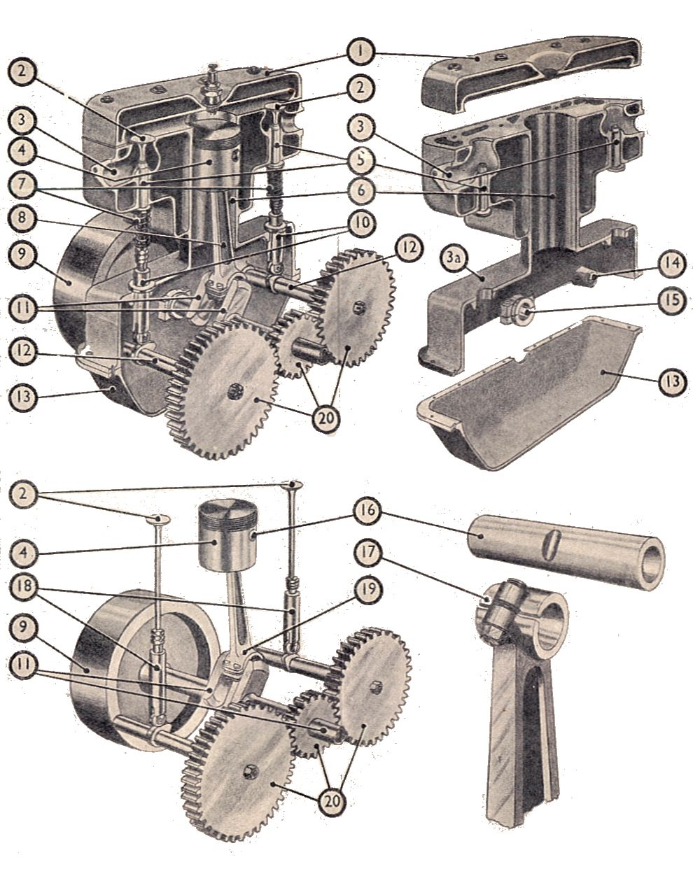 Single Cylinder Engine Diagram Great Installation Of Wiring Motorcycle File Four Stroke Components Manual Rh Commons Wikimedia Org Diesel Line