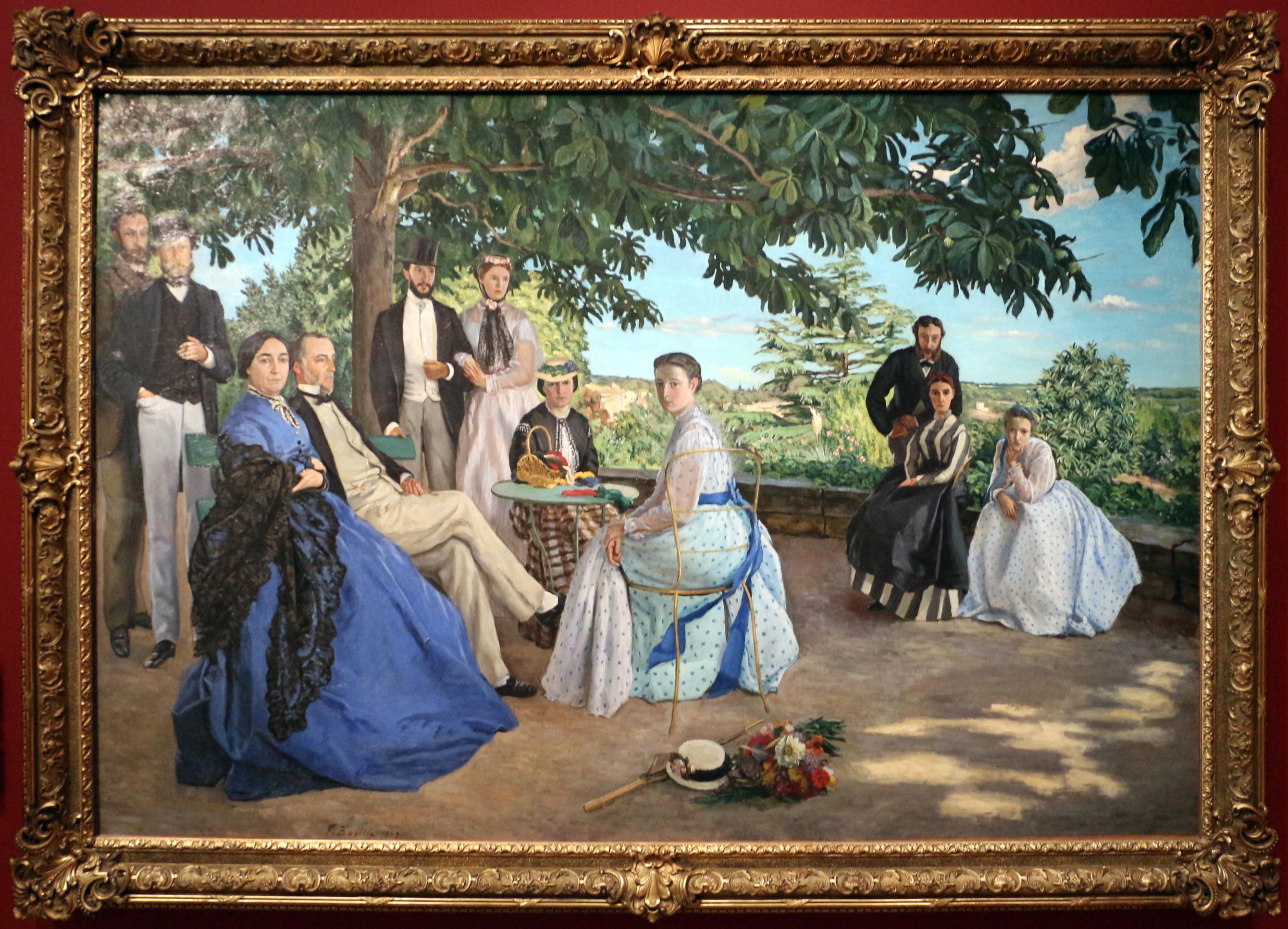 Frédéric bazille riunione di famiglia 1867 ritoccato nel 1869 01 JPG
