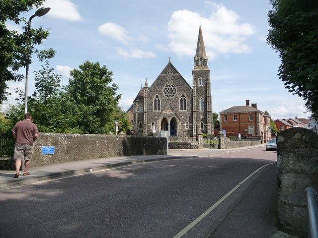 Gillingham, Town Bridge and the Methodist church - geograph.org.uk - 1434133