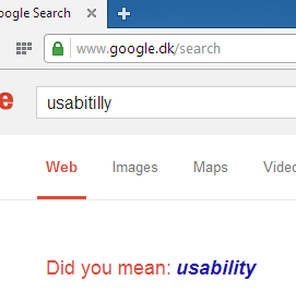 Google did you mean usability