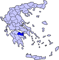 Location of Corinthia Prefecture in Greece