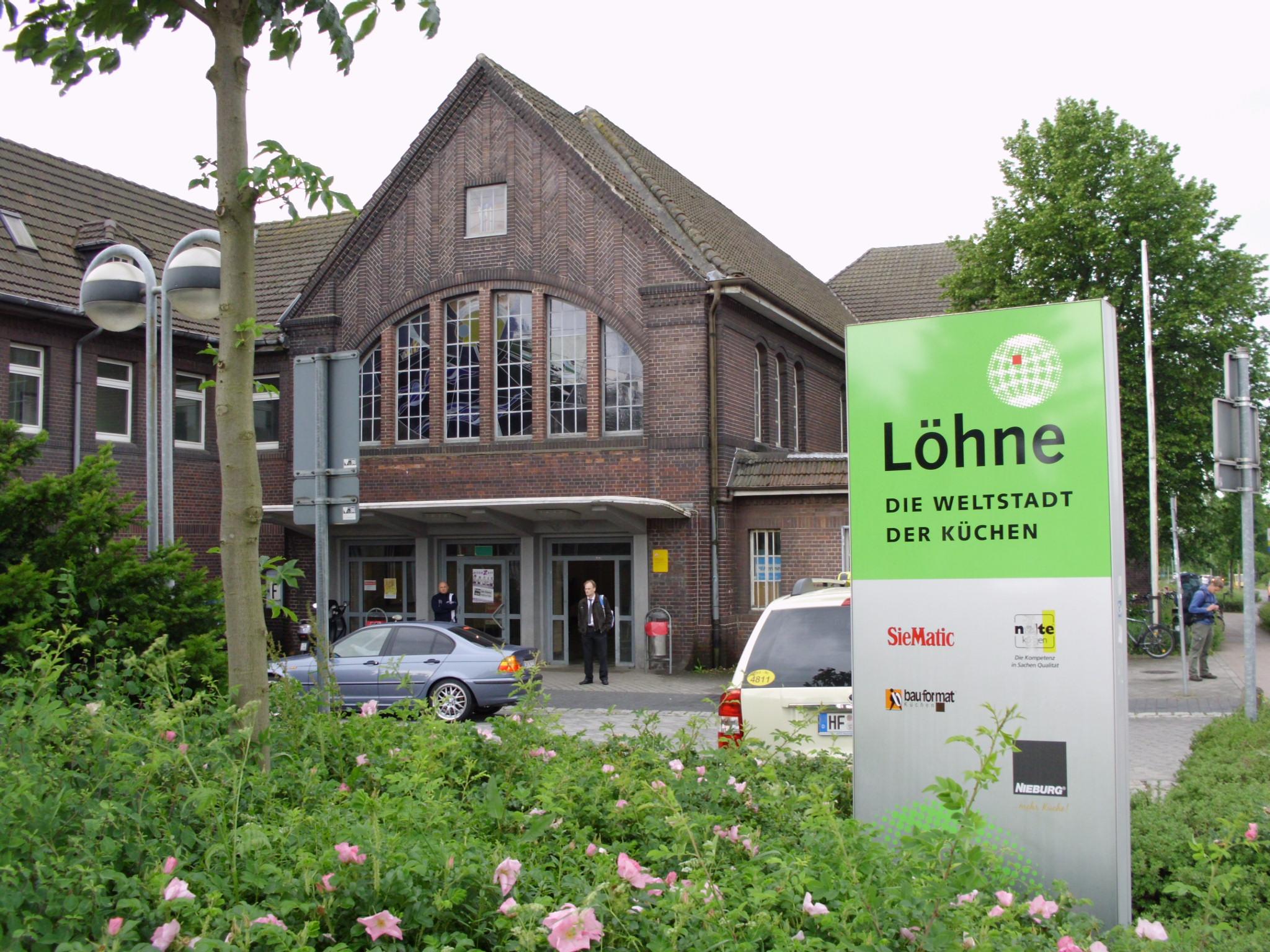 Bahnhof L Hne file haupteingang des bahnhofs löhne westf jpg wikimedia commons