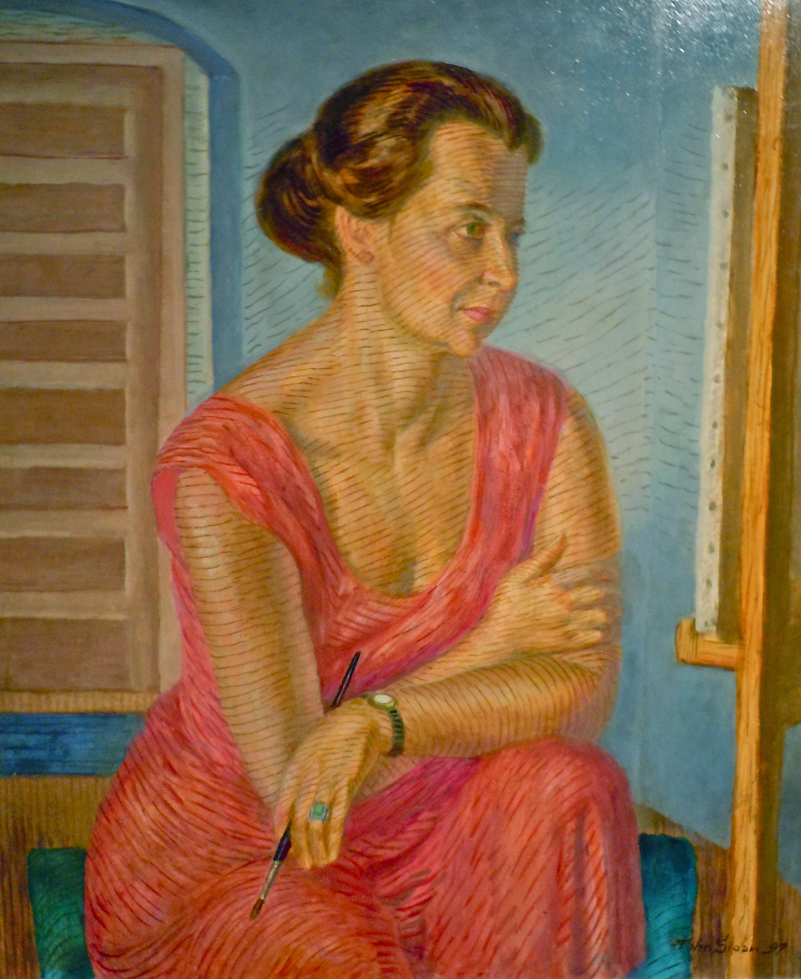 ''Helen at the Easel'', 1947 by John Sloan