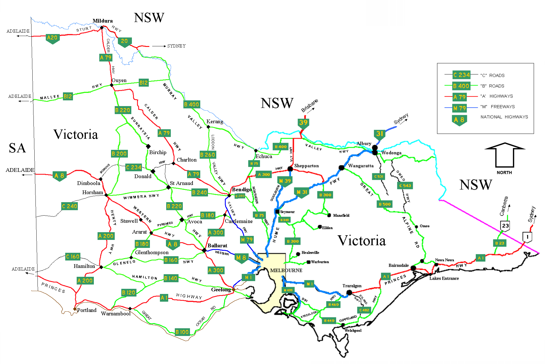 FileHighways Of VictoriaPNG Wikimedia Commons - Map of victoria australia with towns