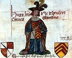 Manuscript illustration of Hugh Despenser the Younger