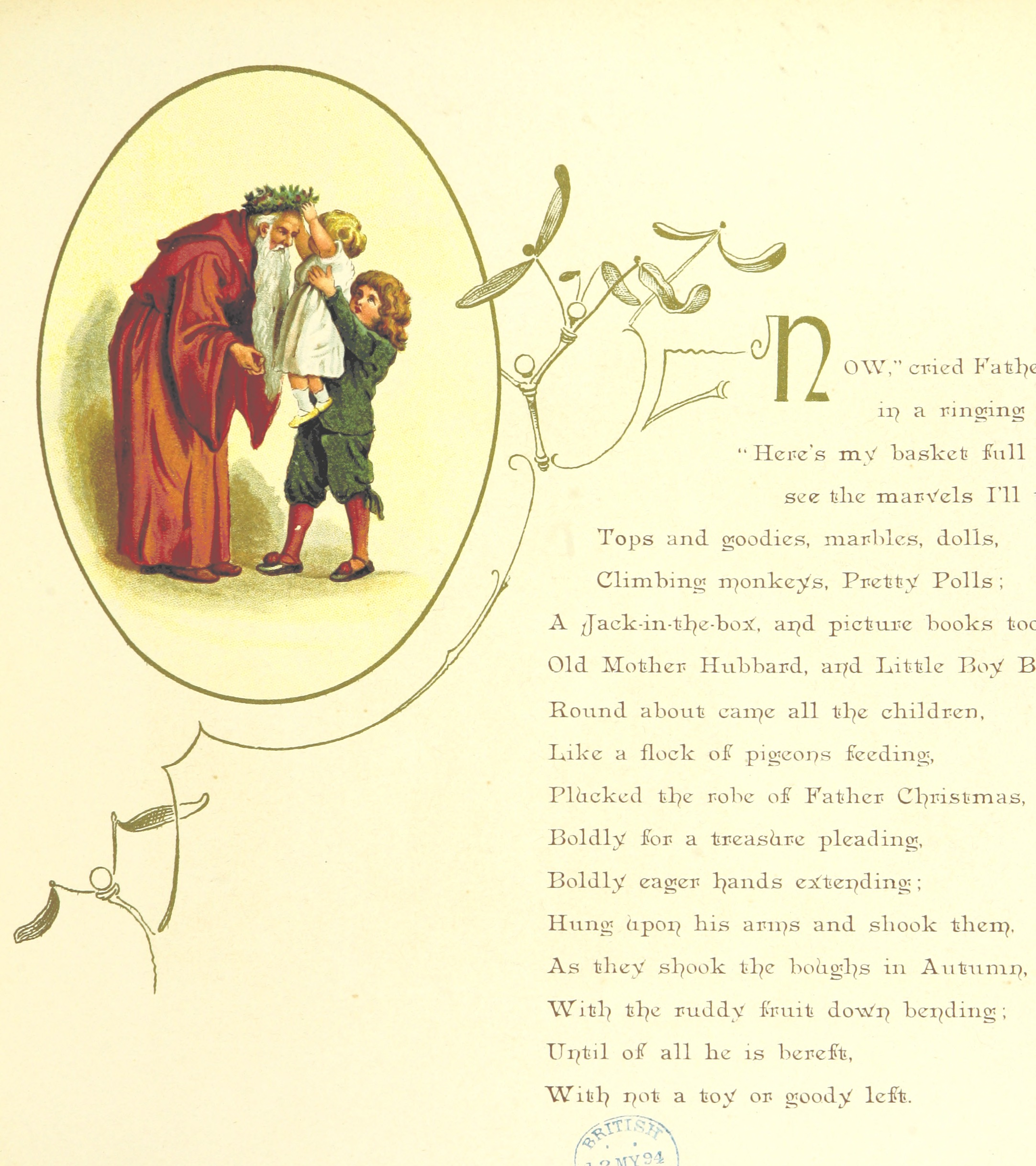 File:Image taken from page 19 of \'The Coming of Father Christmas ...