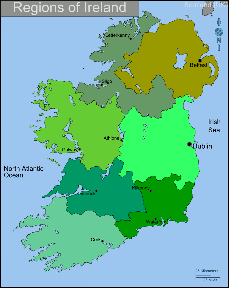 Religion On The Island Of Ireland Map