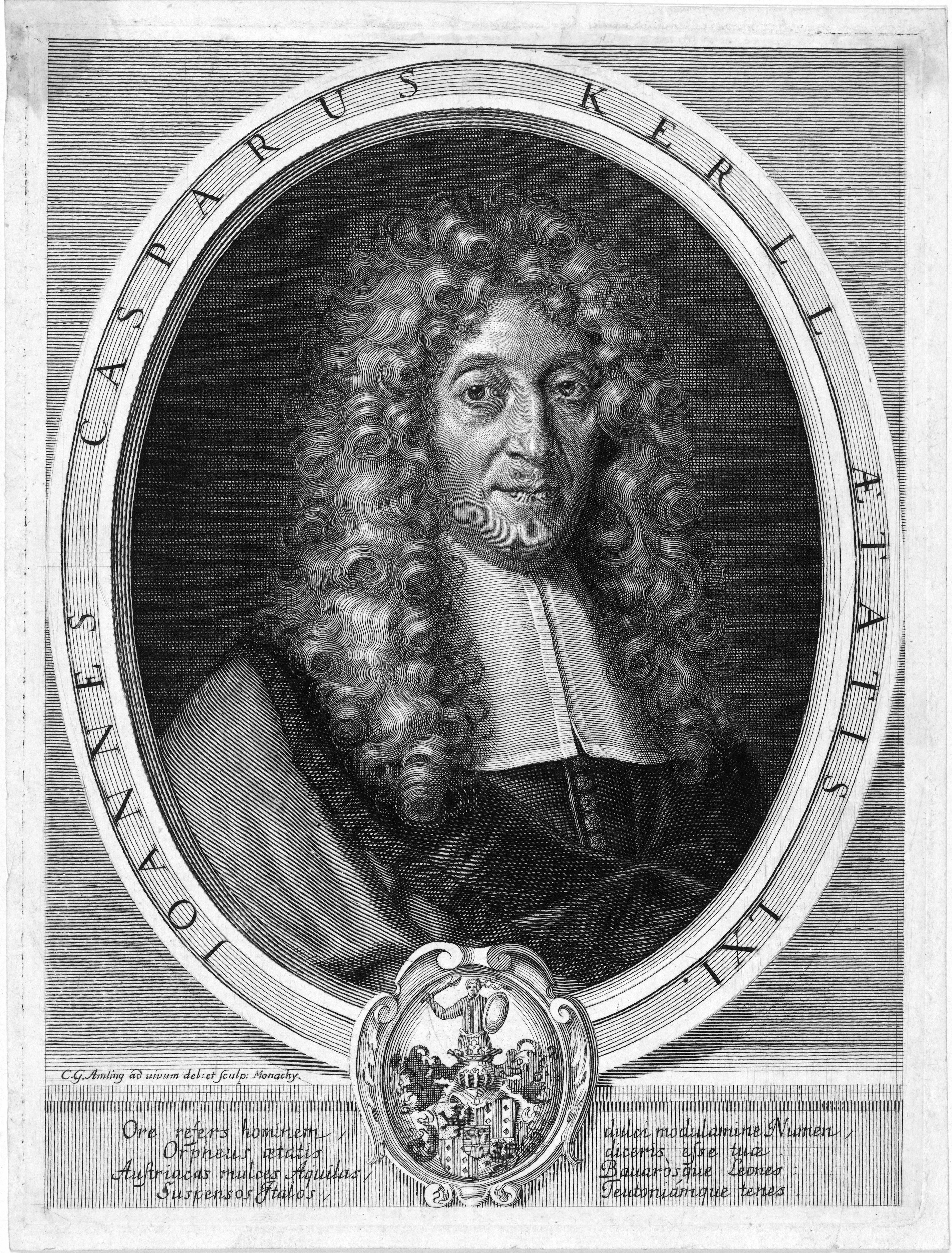 Portrait, made around 1685-1688 during his stay in Munich.