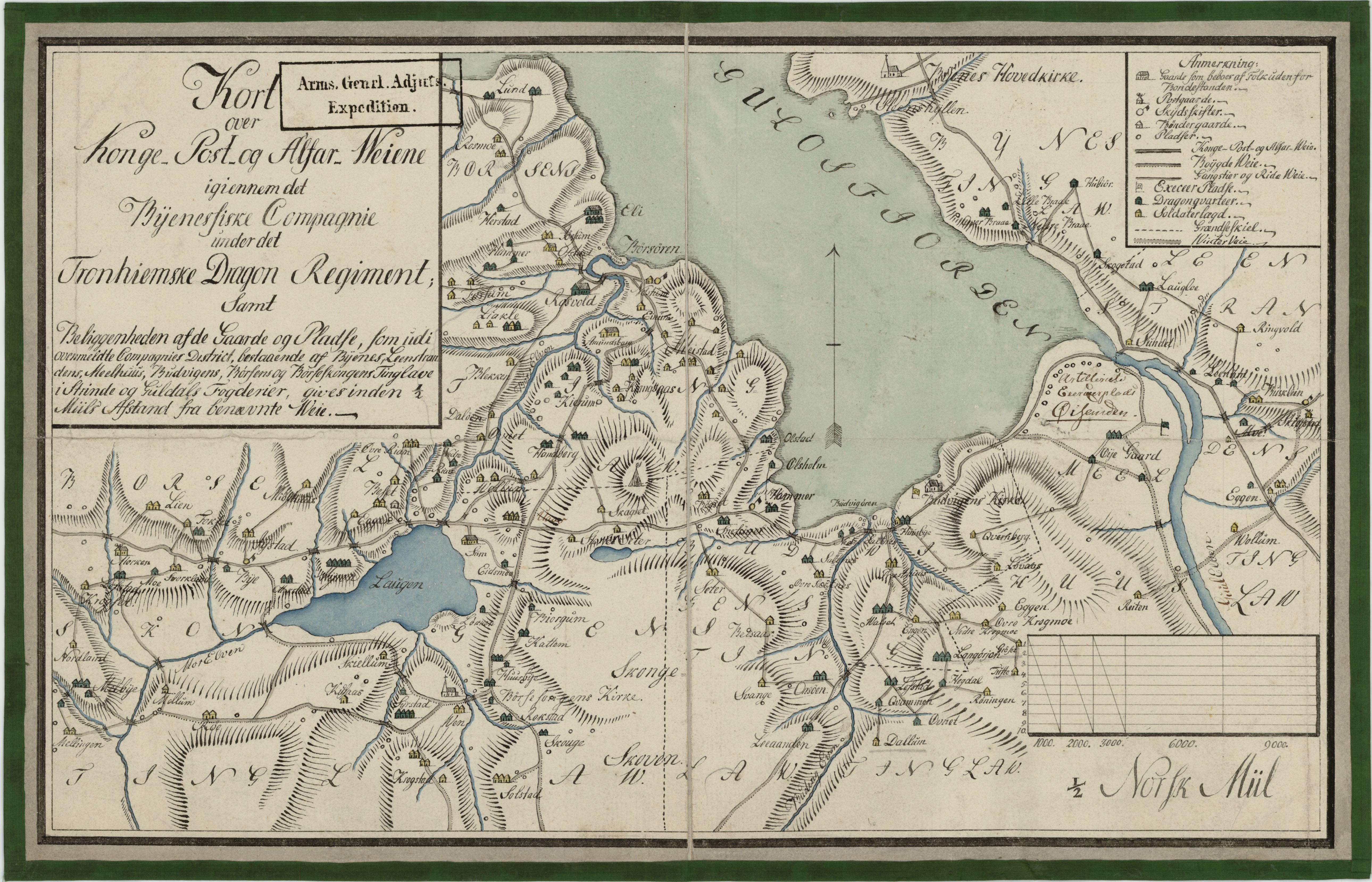 kart over byneset File:Kartblad 178  Kart over Konge  Post  og Alfar Weiene igiennom  kart over byneset