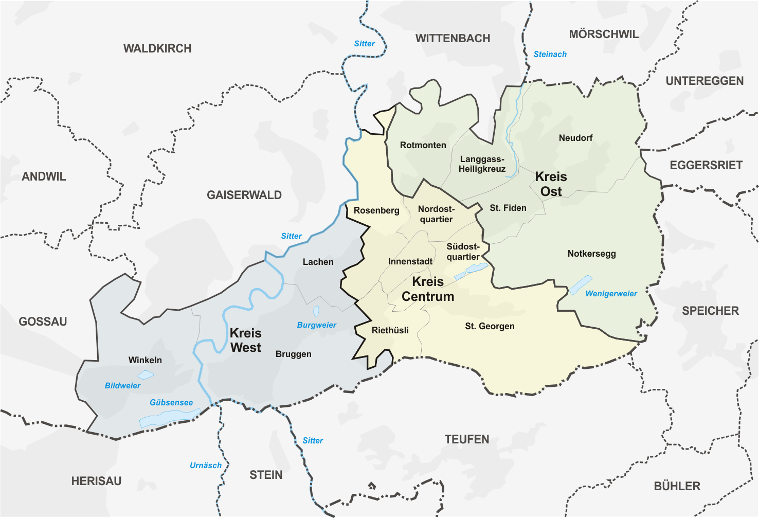 Datei Karte Quartiere St Gallen Png Wikipedia