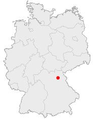 Bayreuths beliggenhed i Tyskland