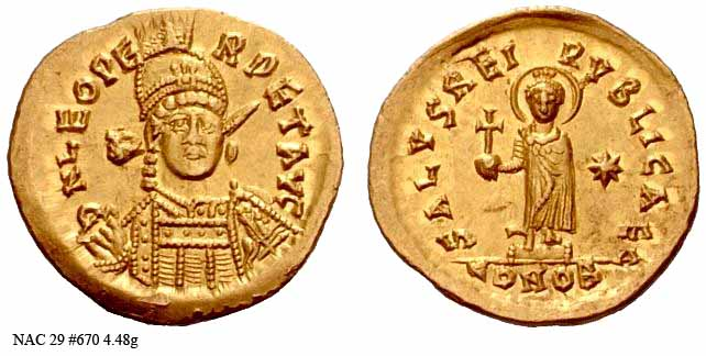 Byzantine empire Leo2-coin