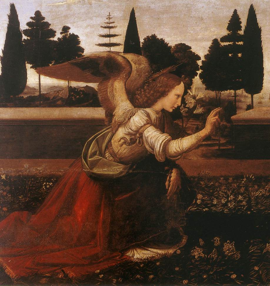 File:Leonardo da Vinci - Annunciation (detail) - WGA12678 ...