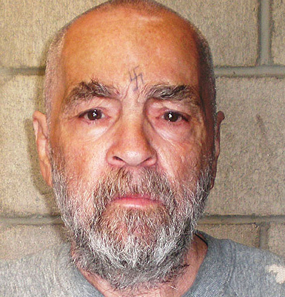 Charles Manson  - 2018 Grey hair & alternative hair style.