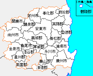 慶尚北道の地図