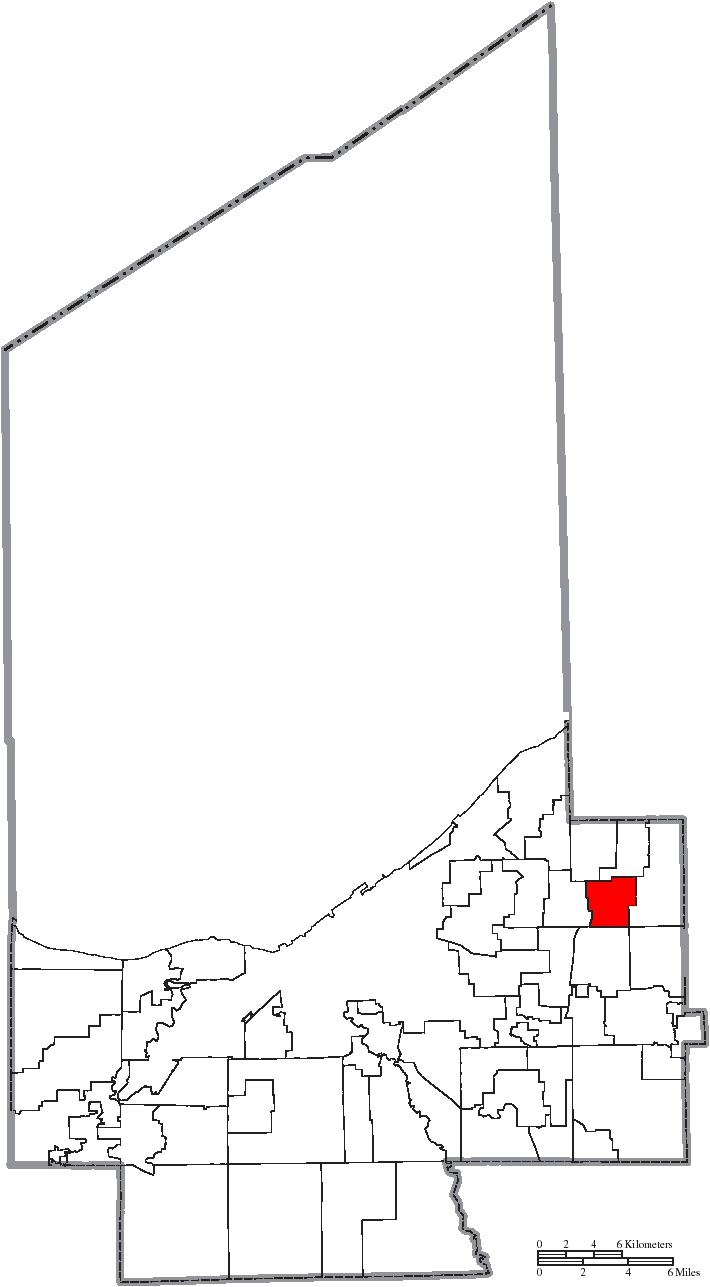Mayfield Ohio Map.File Map Of Cuyahoga County Ohio Highlighting Mayfield Heights City