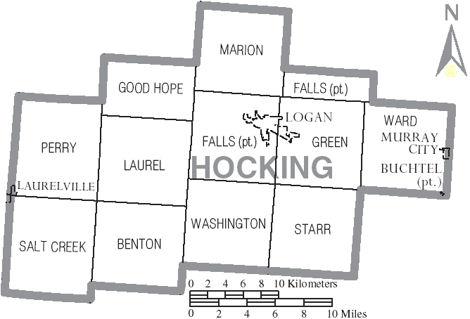 FileMap Of Hocking County Ohio With Municipal And Township Labels - Us muni map