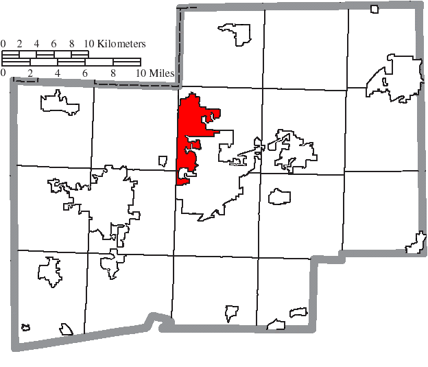 File Map Of Stark County Ohio Highlighting North Canton City Png