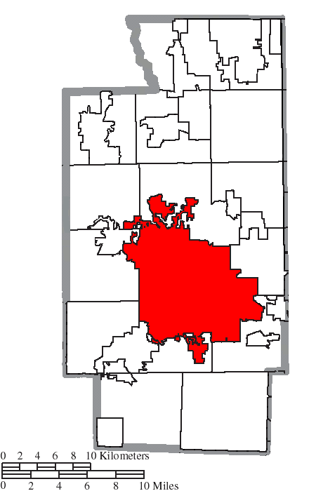File Map Of Summit County Ohio Highlighting Akron City Png