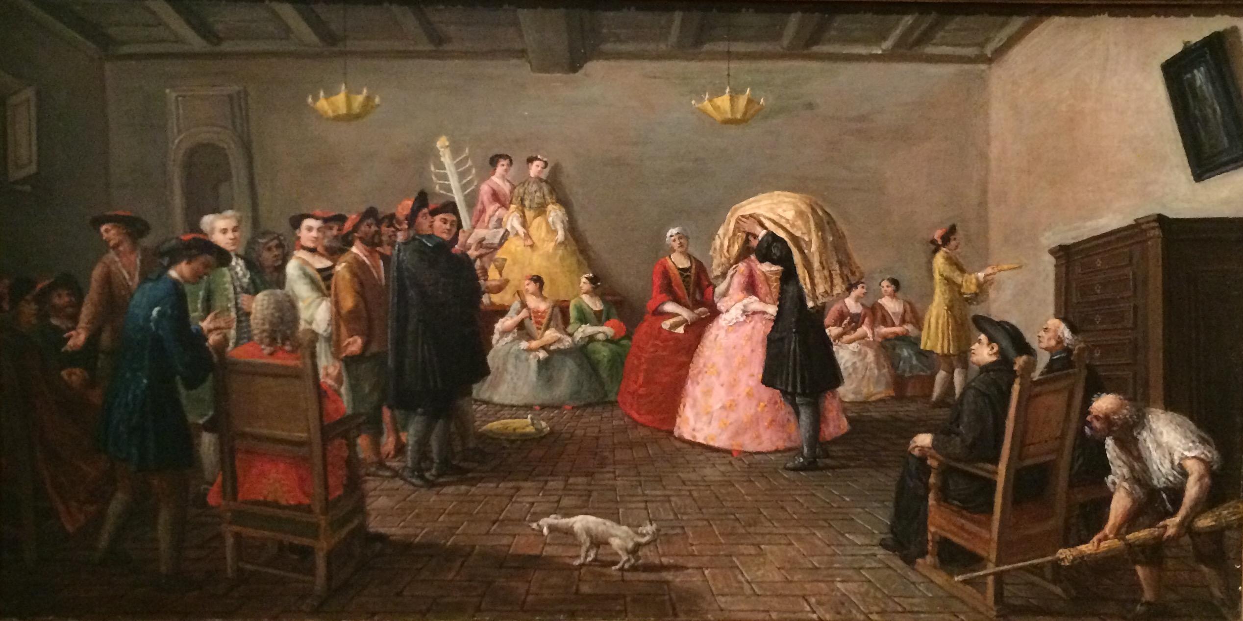Marco MARCUOLA, Un mariage juif (titre attribué) Venise, vers 1780.jpg