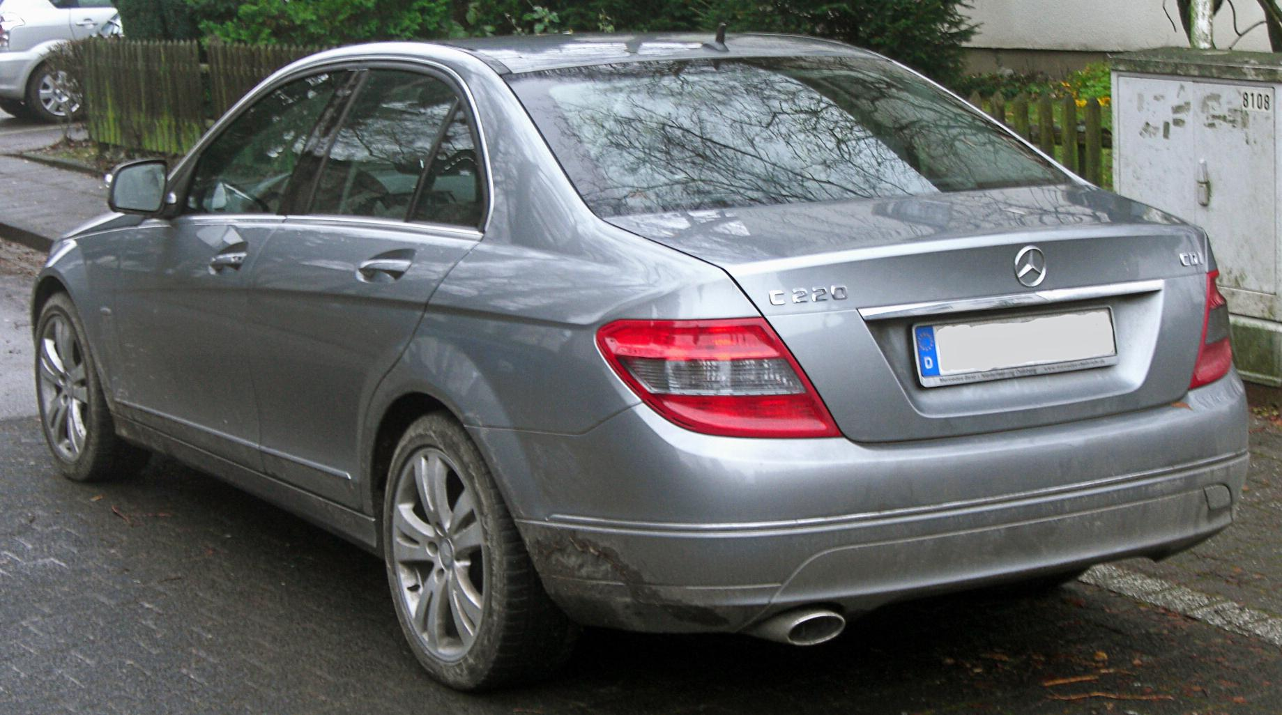 file mercedes c 220 cdi avantgarde w204 seit 2007 rear. Black Bedroom Furniture Sets. Home Design Ideas