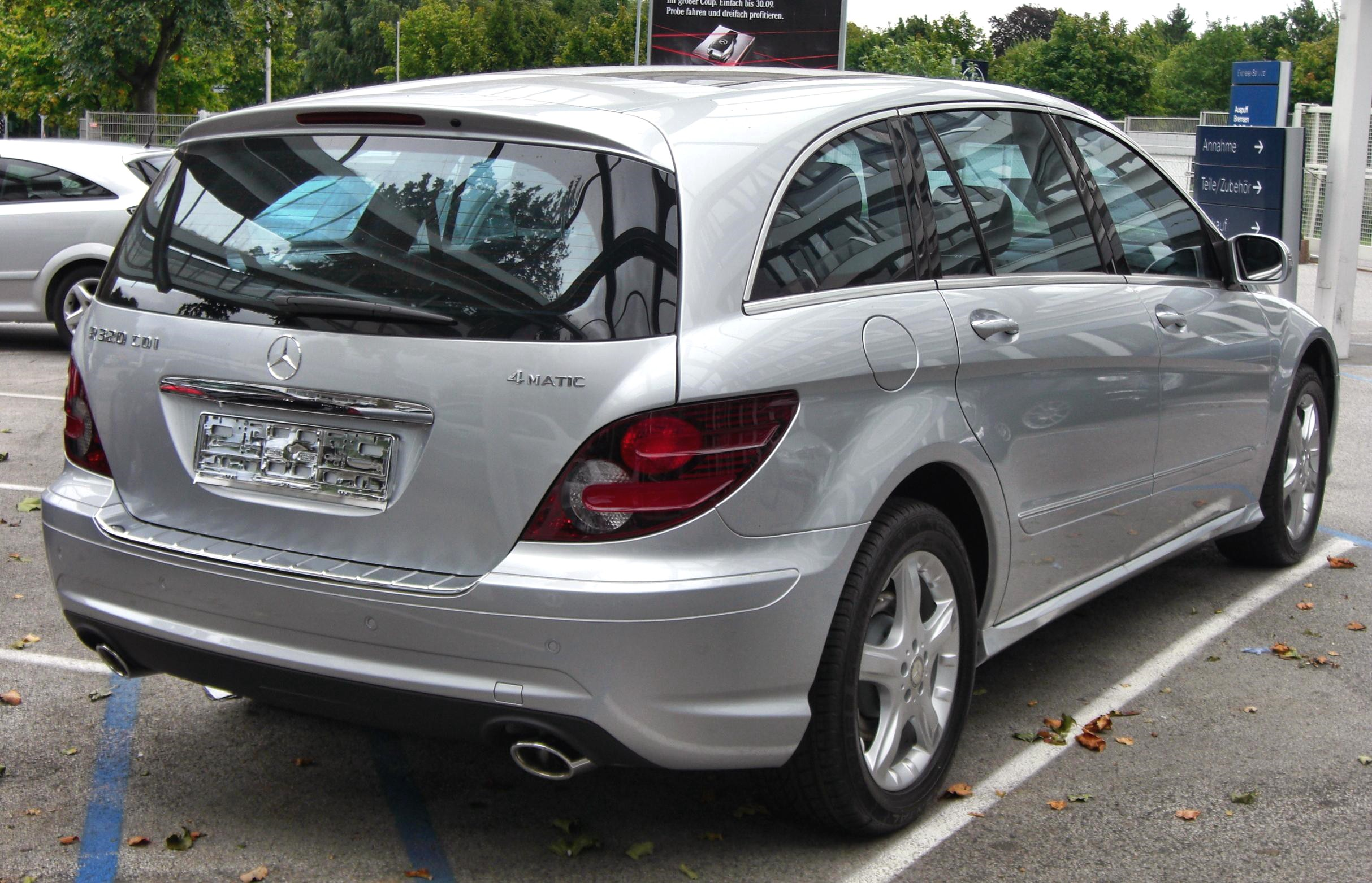 File mercedes r320cdi l 4matic rear jpg wikimedia commons for 2008 mercedes benz r320cdi 4matic