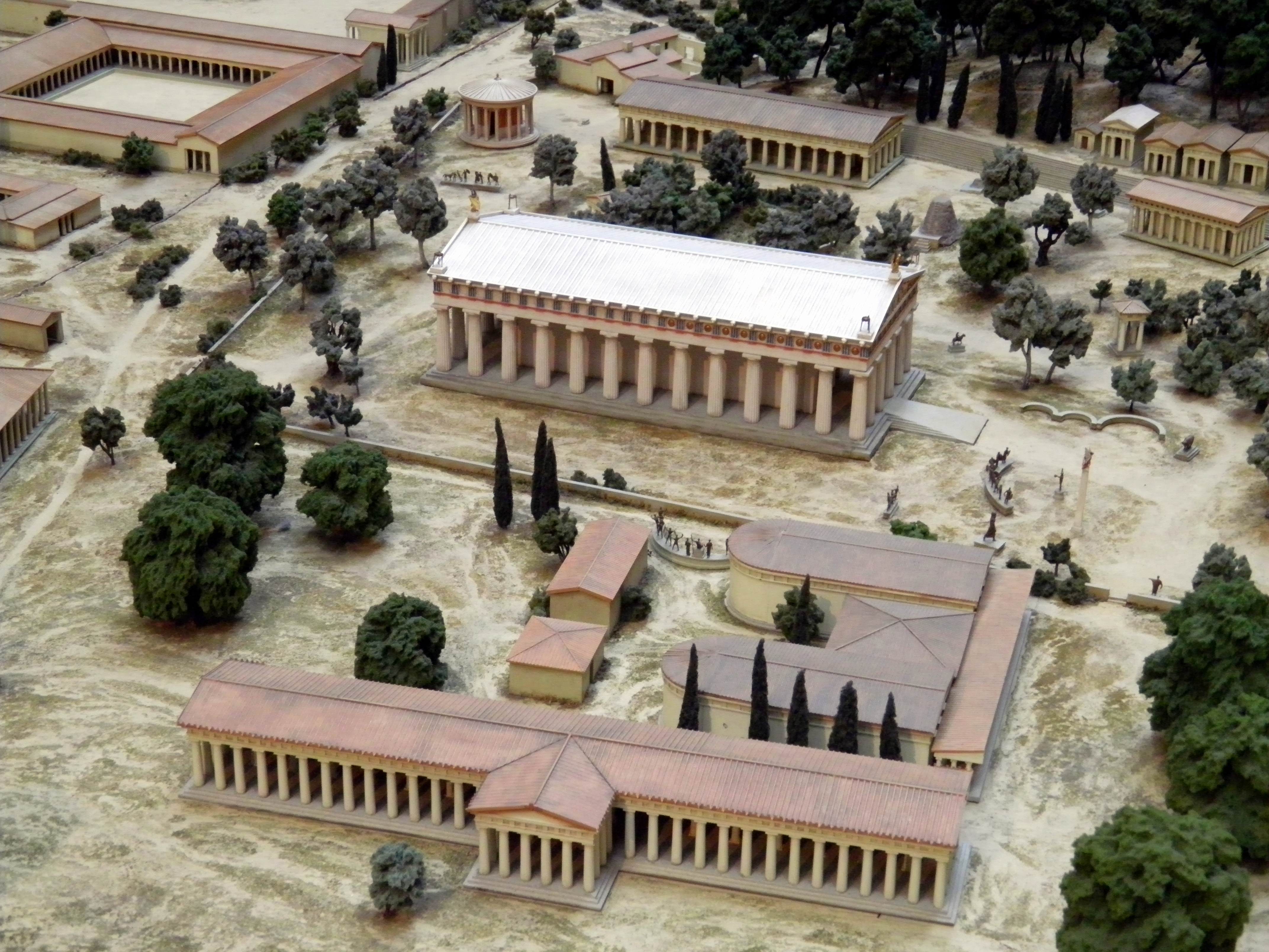 File:Model of ancient Olympia, British Museum6.jpg ...
