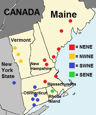 New England English Wikipedia - Accent map of us