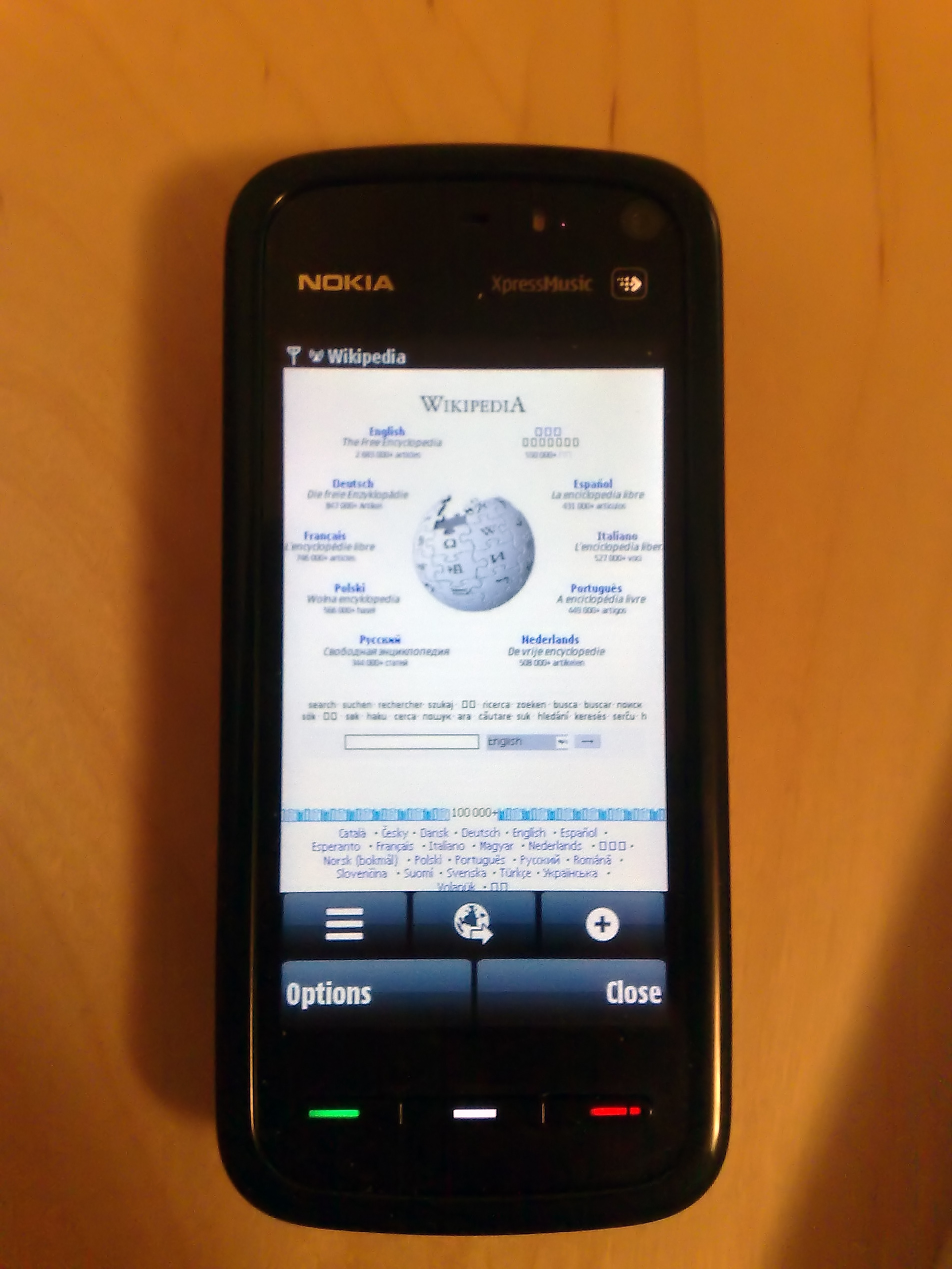 Nokia 5800 photo browser Cached