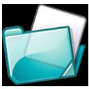Datei:Nuvola filesystems folder cyan.png