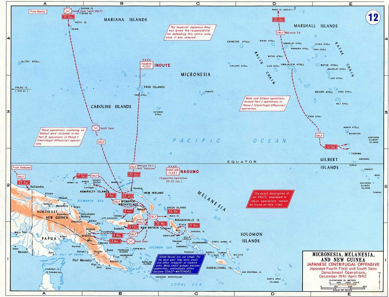 Datei:Pacific War - Micronesia, Melanesia and New Guinea ...