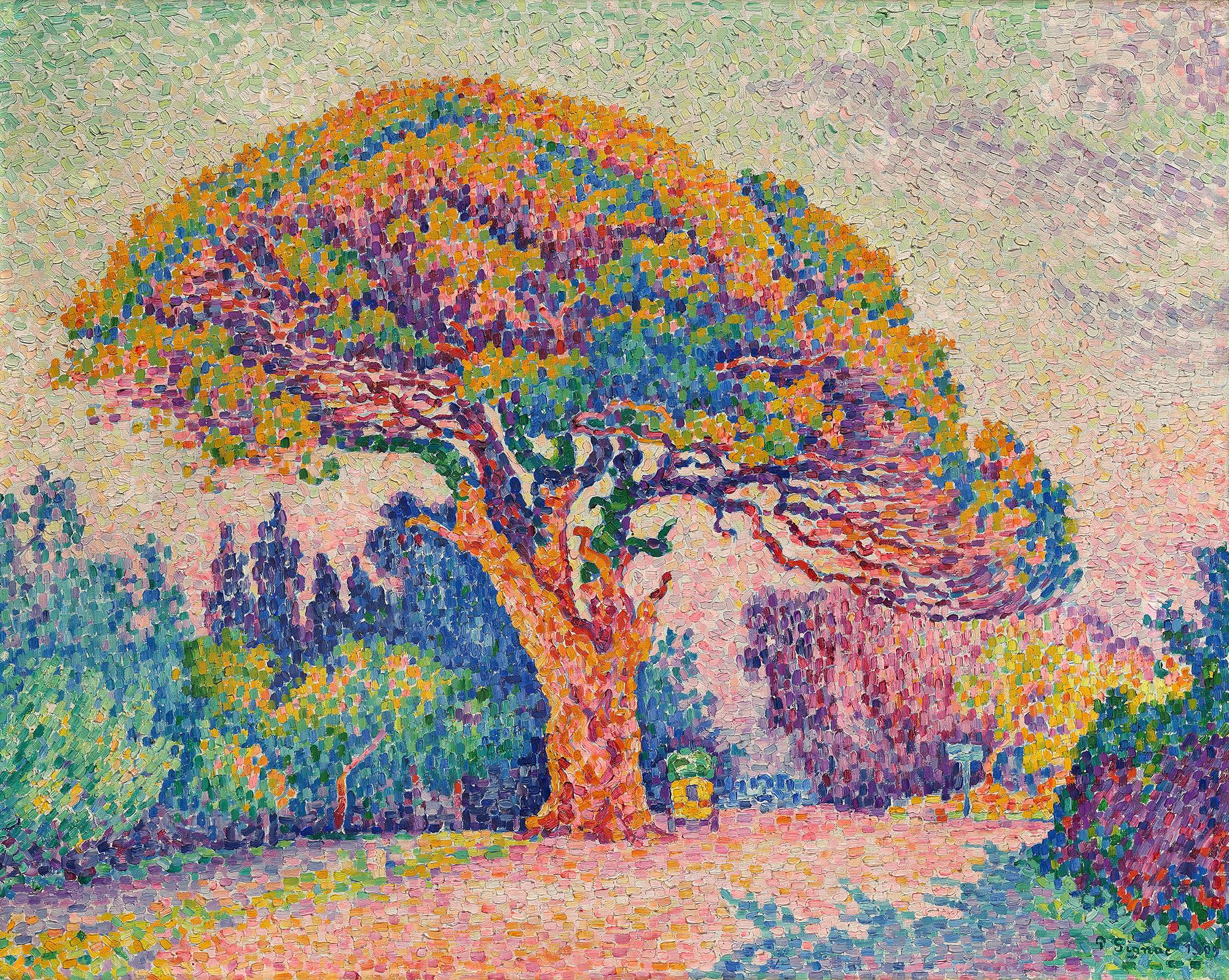 Quelque chose de nouveau assez File:Paul Signac, 1909, The Pine Tree at Saint Tropez, oil on @QB_58