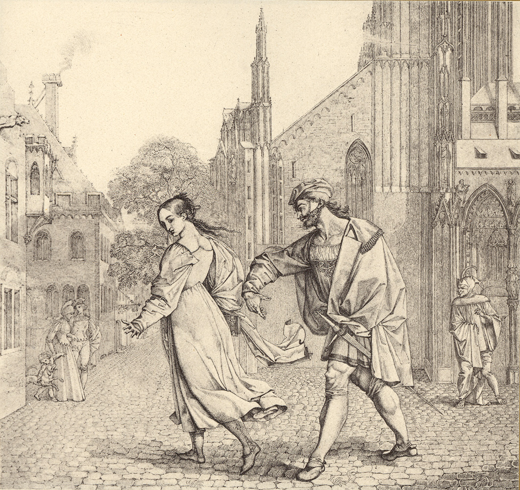 Peter von Cornelius, Faust bietet Gretchen den Arm, 1811