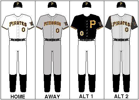 pittsburgh pirates uniform history