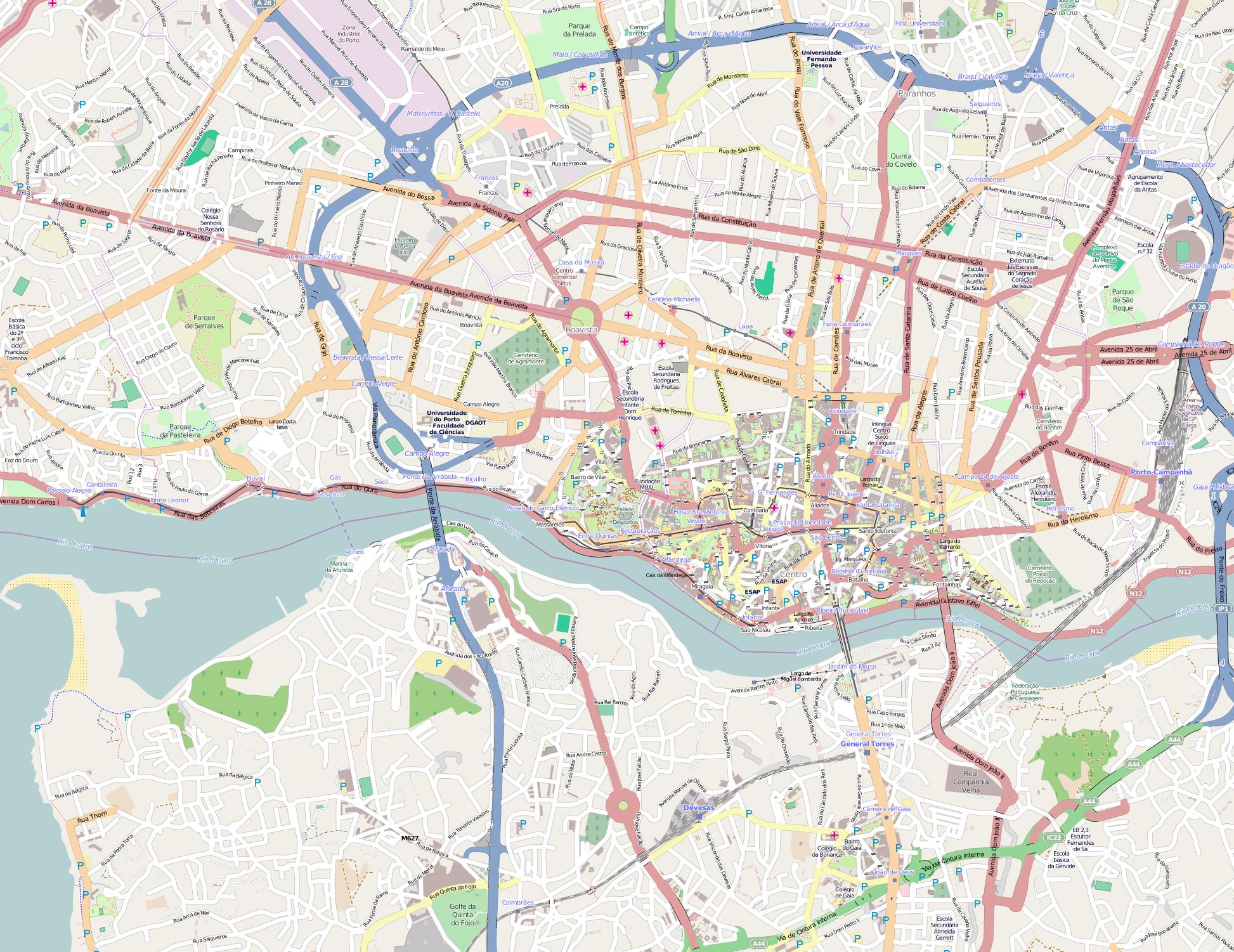 mapa do porto pdf File:Porto OpenStreetMap.png   Wikimedia Commons mapa do porto pdf