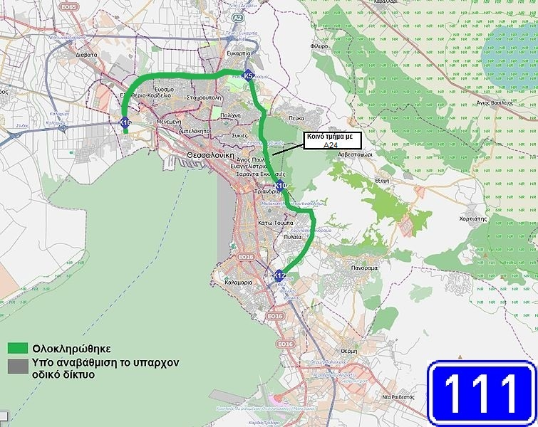 File Ring Road Thessaloniki Map Jpg Wikimedia Commons