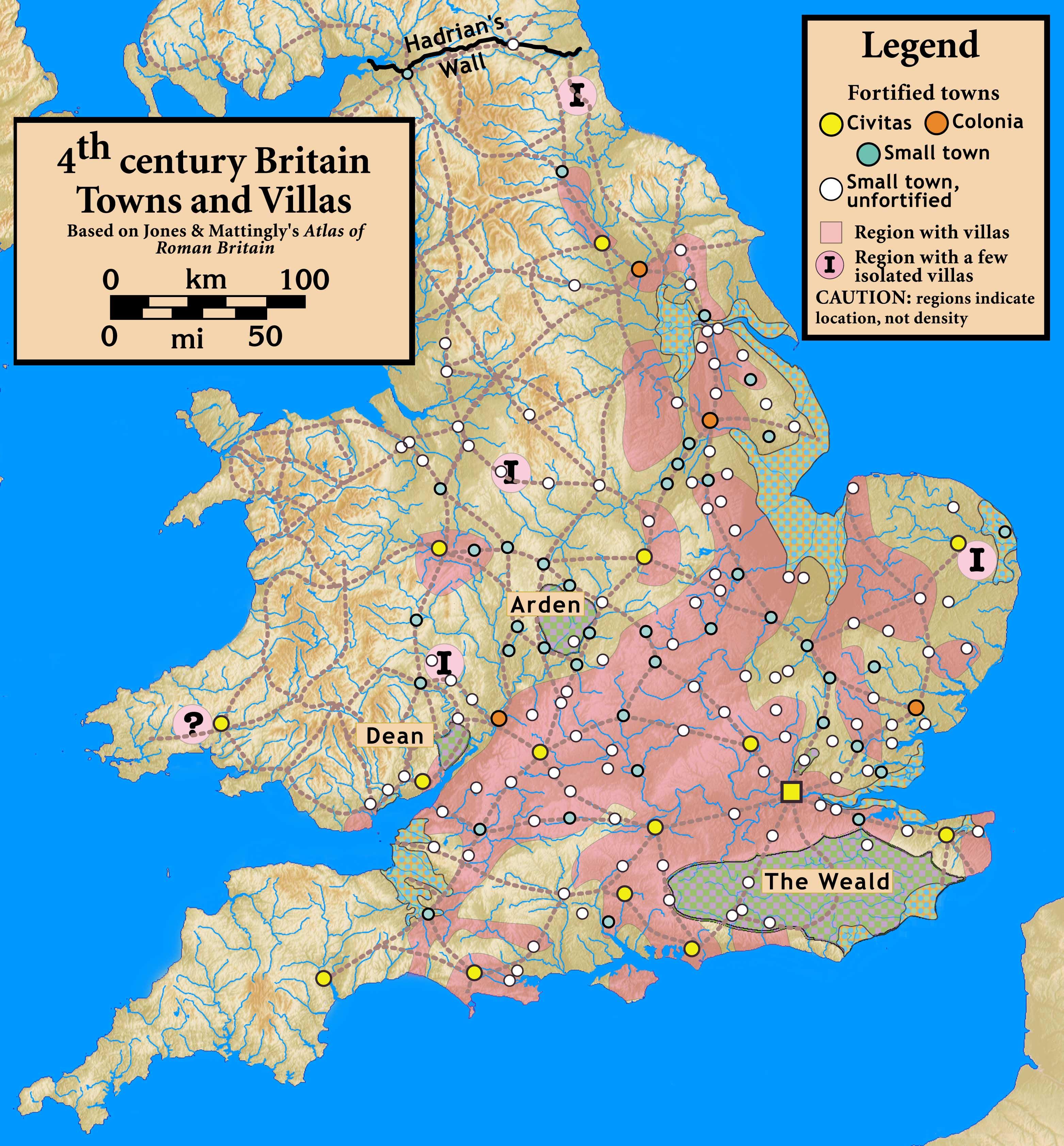 Roman Villa Settlements In Britain