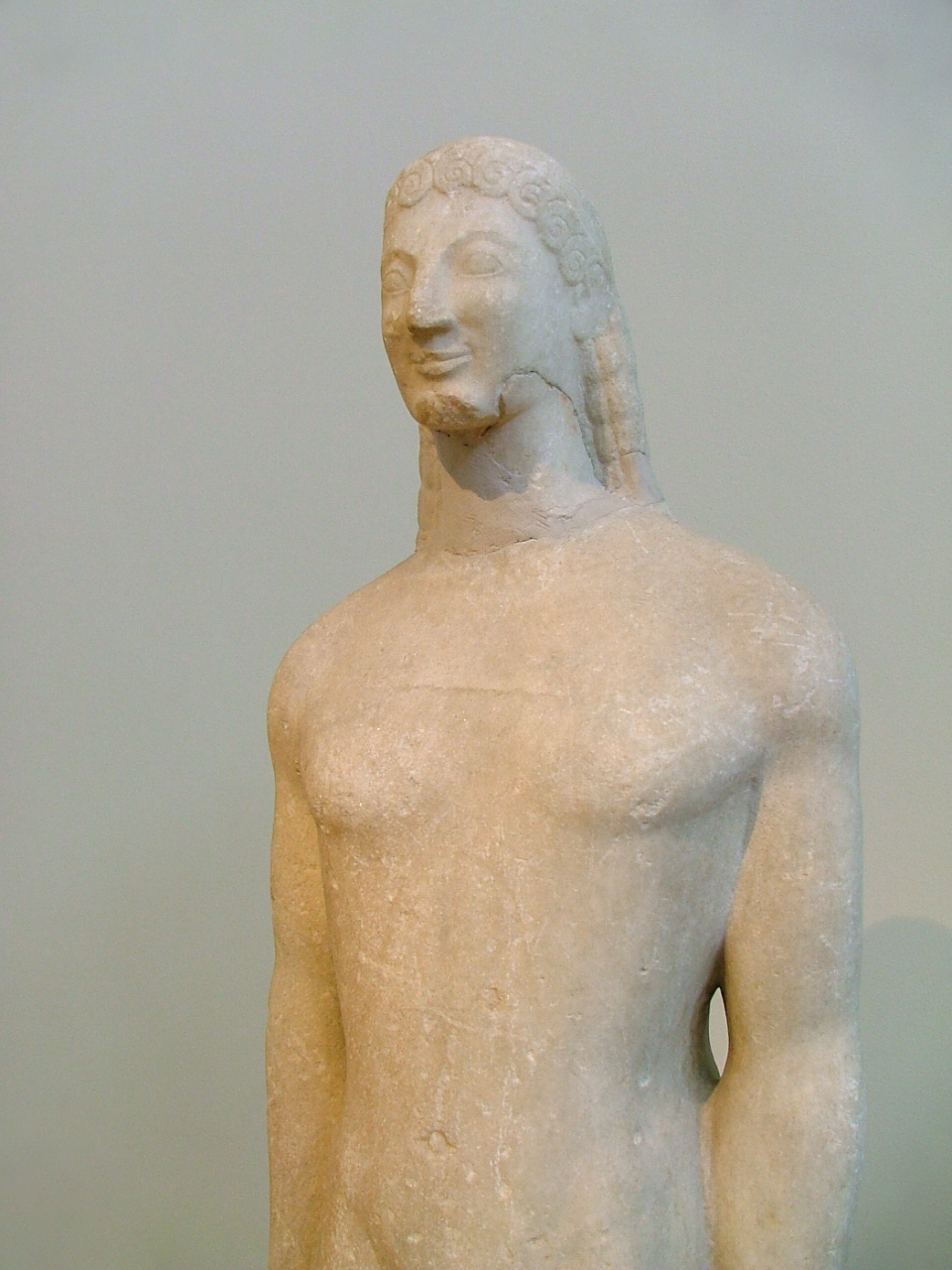 a comparison of the egyptian figure torso of a general and the greek marble statue of kouros In ancient greek kouros means youth  a direct influence between egyptian sculptures (in particular the figure of horus) the torso is four-sided and flat.