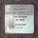 Stolperstein Alt-Rödelheim 38 Martha Grünebaum