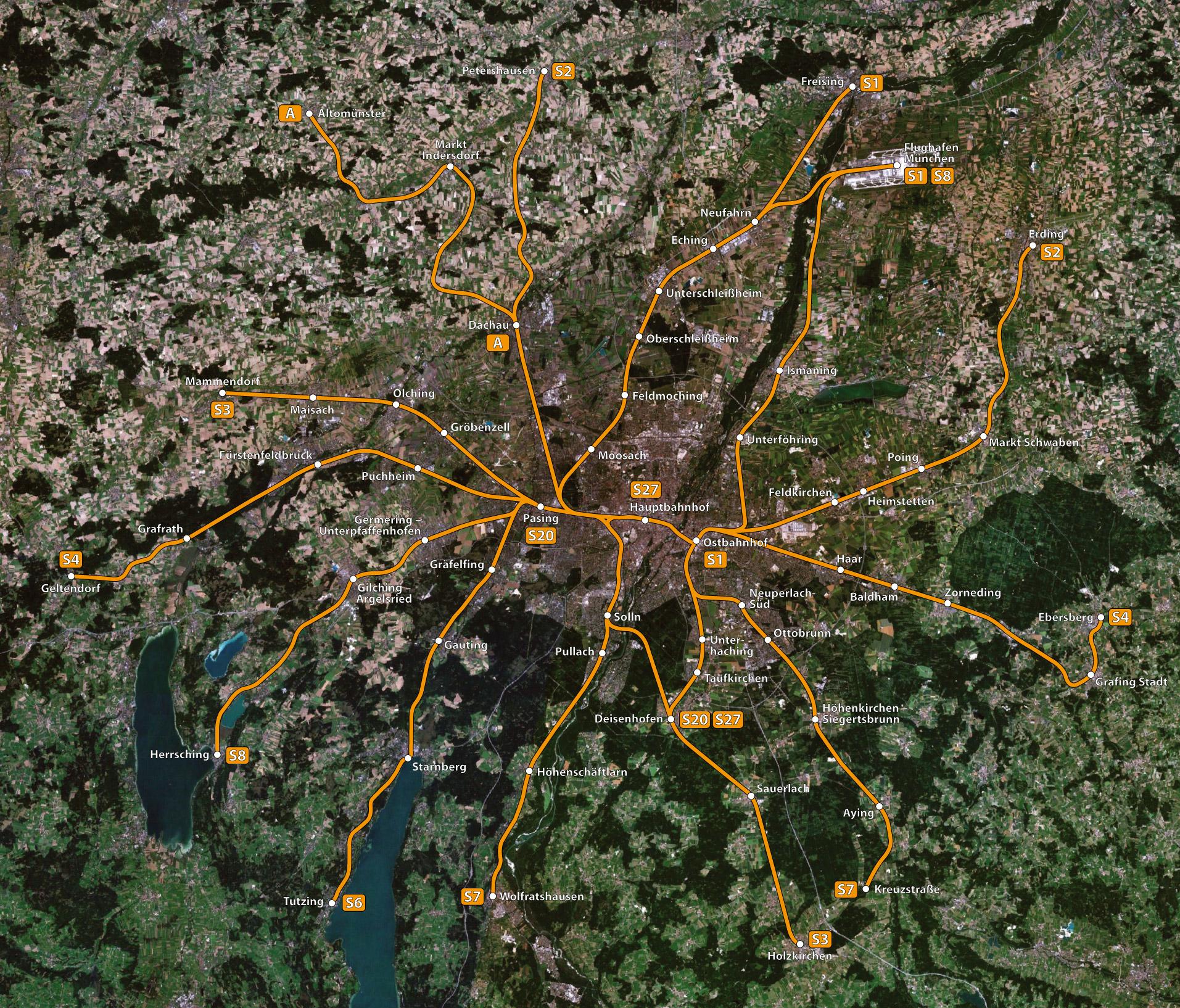 Karte München S Bahn Netz.File Streckennetz Der S Bahn München Jpg Wikimedia Commons